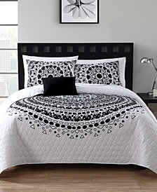 VCNY Home Tessa 4-Pc. Full/Queen Medallion Quilt Set