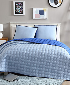 VCNY Home Jordan Reversible Solid Coverlet Set Collection