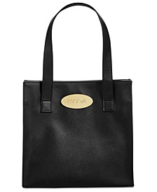 Crosshatch Patterned Tote