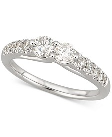 Diamond Two-Stone Engagement Ring (3/4 ct. t.w.) in 14k White Gold