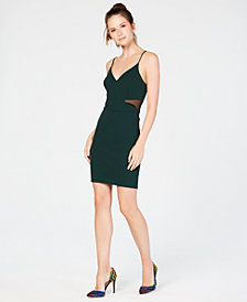 B Darlin Juniors' Illusion Bodycon Dress
