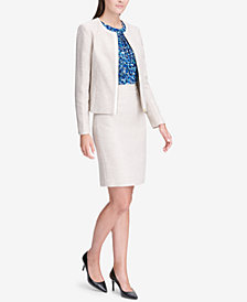 Calvin Klein Tweed Jacket & Pencil Skirt