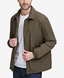 Cole Haan Men's Coaches Jacket with Sherpa-Fleece Lining
