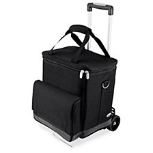 Picnic Time Cellar 6-Bottle Wine Carrier & Cooler Tote with Trolley