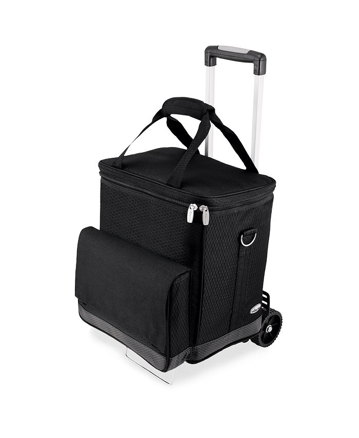 Picnic Time - Cellar 6-Bottle Wine Carrier & Cooler Tote with Trolley