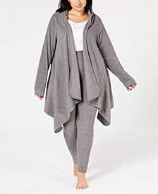 Cuddl Duds Plus Size Hooded Fleece Wrap & Leggings