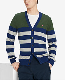 Tommy Hilfiger Men's Signature Striped Cardigan Sweater, Created for Macy's