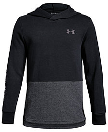 Under Armour Big Boys Double-Knit Colorblocked Hoodie