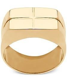 Square Cross Design Ring in 10k Gold