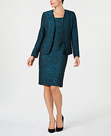 Kasper Metallic Jacquard Jacket & Dress