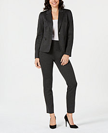 Kasper One-Button Blazer & Pull-On Pants