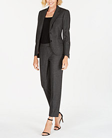 Anne Klein Two-Button Blazer & Straight-Leg Pants, Created for Macy's