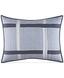 Nautica River Breeze Cotton Medium Gray Standard Sham