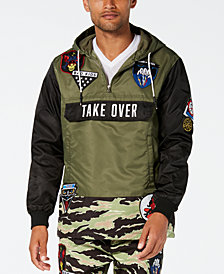 Reason Men's Take Over Camo Colorblocked Hooded Track Jacket