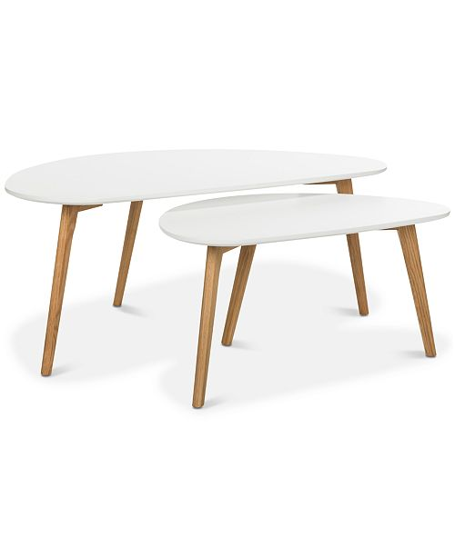 Furniture Olida 2-Pc. Double Coffee Table, Quick Ship