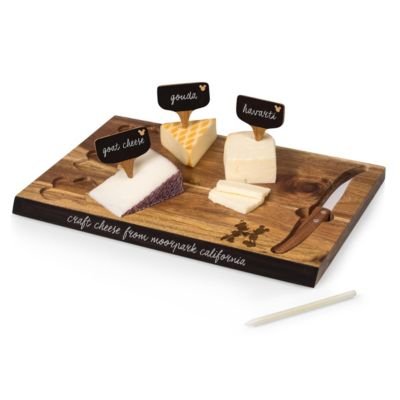 Toscana® by Picnic Time Disney's Mickey and Minnie Mouse Delio Acacia Cheese Cutting Board & Tools Set