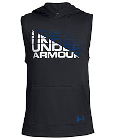 Under Armour Big Boys Rival Sleeveless Logo-Print Hoodie