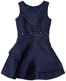BCX Big Girls Embellished Satin Dress