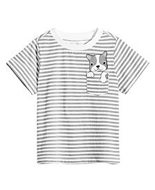 First Impressions Baby Boys Striped Dog-Pocket Cotton T-Shirt, Created for Macy's