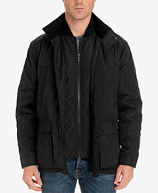 London Fog Men's Arietta Diamond Quilted Field Coat, Created for Macy's