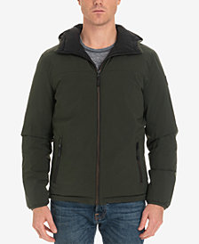London Fog Men's Beekman Reversible Stretch Bomber Jacket