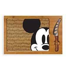 Toscana™ by Mickey Mouse Button Eye Icon Glass Top Cutting Board & Knife Set