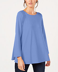Eileen Fisher Stretch Jersey Ballet-Neck Swing Tunic, Created for Macy's
