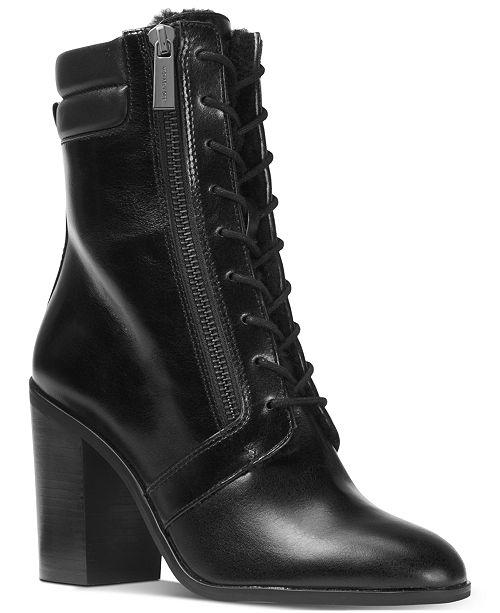 d2706b2b275 Michael Kors Rosario Lace-Up Boots & Reviews - Boots - Shoes ...