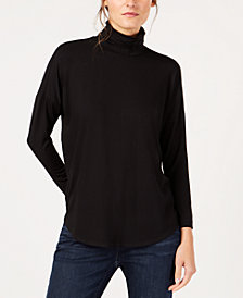 Eileen Fisher Stretch Jersey Turtleneck Top, Regular & Petite