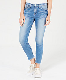 Flying Monkey Raw-Hem Skinny Jeans