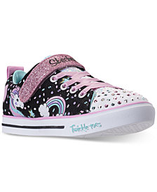 Skechers Little Girls' Twinkle Toes: Shuffles - Sparkle Lite Unicorn Light-up Stay-Put Closure Casual Sneakers from Finish Line