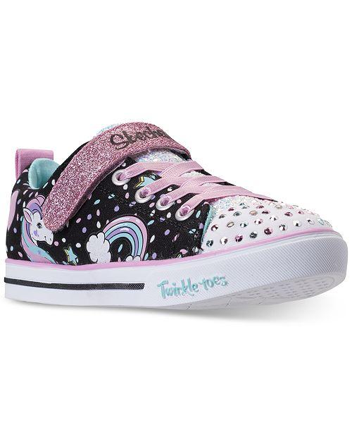 ... Skechers Little Girls rsquo  Twinkle Toes  Shuffles - Sparkle Lite  Unicorn Light-up Stay ... 31ec82794