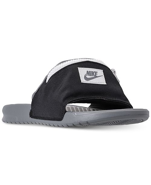 3b879779d72 Nike Men s Benassi JDI Fanny Pack Slide Sandals from Finish Line ...