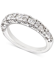 Certified Diamond Band (1 ct. t.w.) in 18k White Gold, Created for Macy's