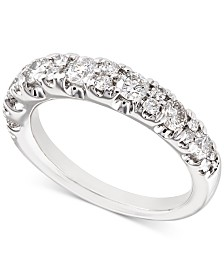 X3 Certified Diamond Band (1 ct. t.w.) in 18k White Gold, Created for Macy's