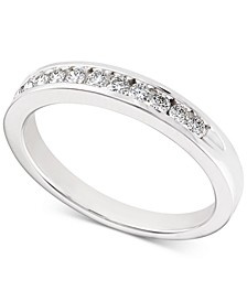 Diamond Channel-Set Band (1/4 ct. t.w.) in 14k White Gold
