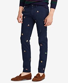 Polo Ralph Lauren Men's Slim Fit Embroidered Chino Pants