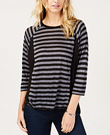 MICHAEL Michael Kors Striped Top, in Regular & Petite Sizes