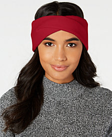 DKNY Twisted Ribbed-Knit Headband, Created for Macy's