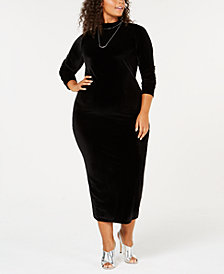 Rebdolls Plus Size Turtleneck Velvet Dress from The Workshop at Macy's