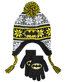 DC Comics Little & Big Boys 2-Pc. Batman Hat & Gloves Set