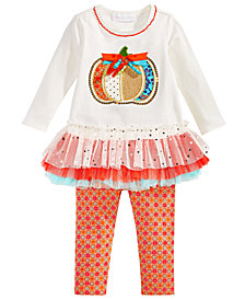 Bonnie Baby Baby Girls 2-Pc. Pumpkin Tunic & Leggings Set