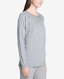 Calvin Klein Embellished-Front Sweater