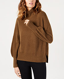 French Connection Balloon-Sleeve Turtleneck Sweater