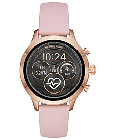 Michael Kors Access Unisex Runway Pink Silicone Strap Touchscreen Smart Watch 41mm