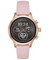 eccc442a2031 Michael Kors Access Unisex Runway Pink Silicone Strap Touchscreen Smart  Watch 41mm