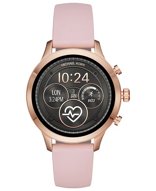 6173fb2aa99 ... Michael Kors Access Unisex Runway Pink Silicone Strap Touchscreen Smart  Watch 41mm ...