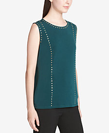 Calvin Klein Studded Sleeveless Blouse