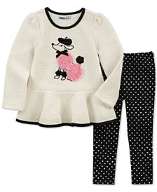 Kids Headquarters Toddler Girls 2-Pc. Quilted Peplum Tunic & Printed Leggings Set
