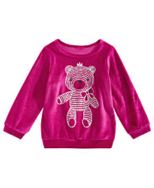 First Impressions Toddler Girls Teddy Bear Velour Shirt, Created for Macy's